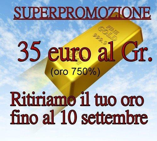 35 euro al grammo